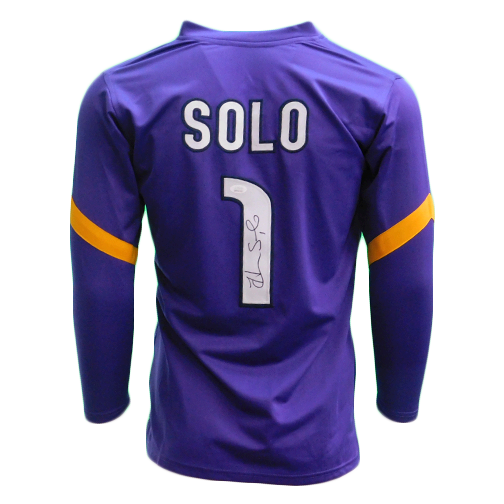 Hope Solo Autographed USA Soccer Goalie Purple Jersey (JSA COA)