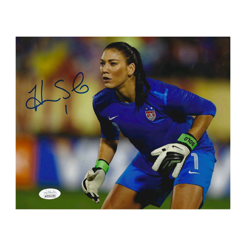 Hope Solo Autographed 8 x 10 Photo (JSA COA) Pose 1