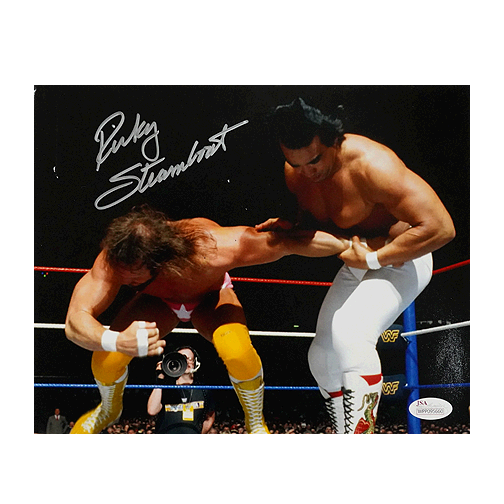 Ricky Steamboat Signed Pro Wrestling Arm-Bar 8x10 Photo (JSA)