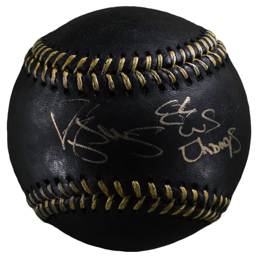 Darryl Strawberry Signed Inscribed 86 World Series Champs Official Major League Black and Gold Baseball (PSA)