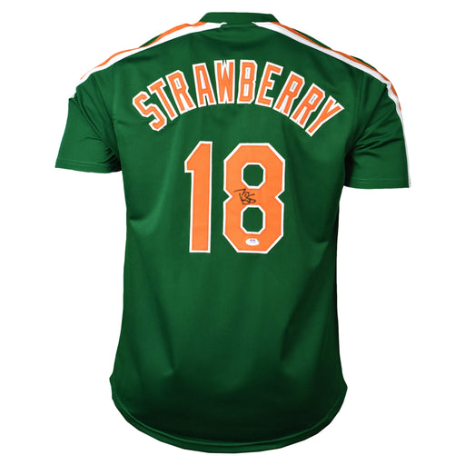 Darryl Strawberry Signed New York St. Patricks Day Jersey (PSA)