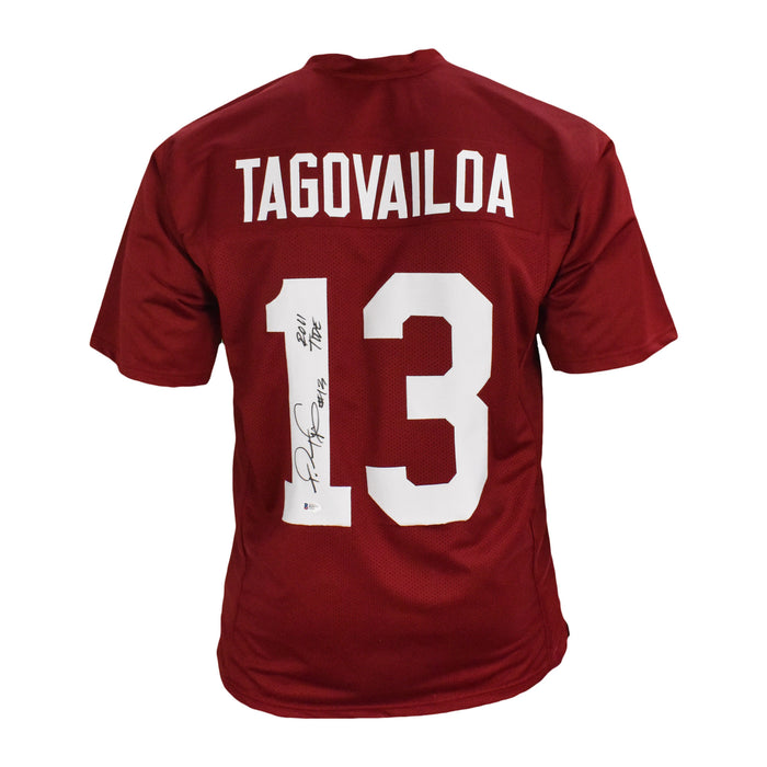 Tua Tagovailoa Signed Roll Tide Red College-Edition Jersey (Beckett)