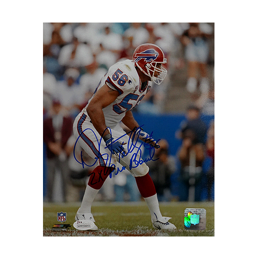 Darryl Talley Signed 2x Pro Bowl Buffalo Bills 8x10 Photo (JSA)
