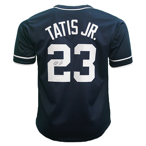 Fernando Tatis Jr Autographed San Diego Pro Throwback Style Baseball Jersey Blue Rookie Debut JSA COA! Compare at $350 Everywhere Else!