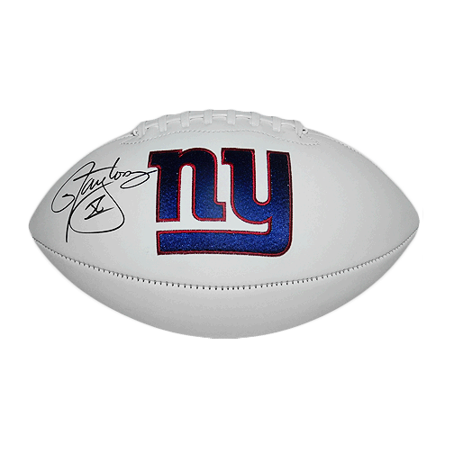 Lawrence Taylor Signed New York Giants Logo Football (JSA)