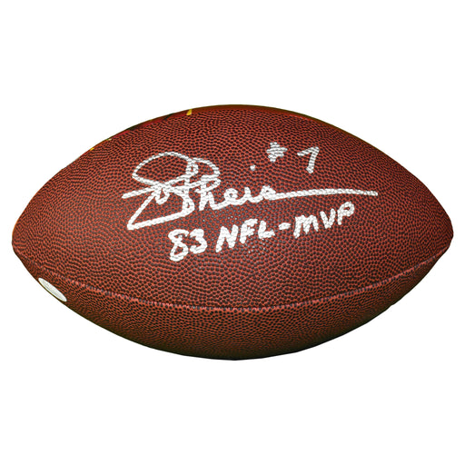 Joe Theismann Signed Washington Redskins Super Bowl Football 83 NFL MVP Inscription (JSA)