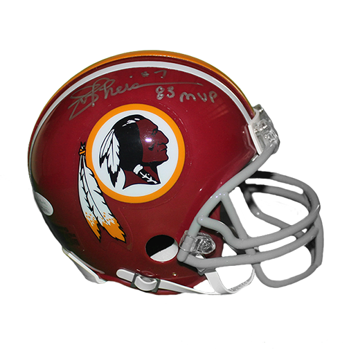 Joe Theismann Redskins Autographed Replica Mini Football Helmet 83 MVP Inscription (JSA)
