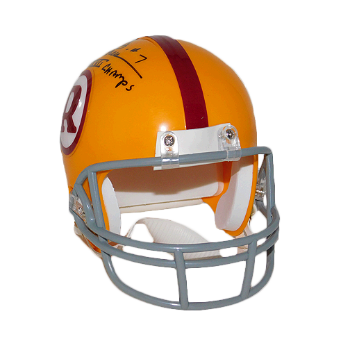Joe Theismann SBXVII Champ Throwback Redskins Mini Helmet