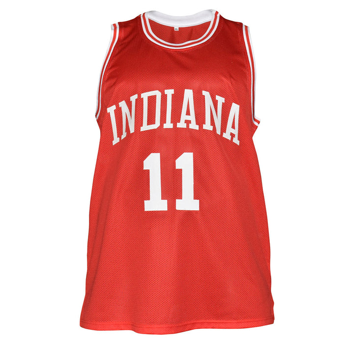 Isiah Thomas Signed Indiana College Red Basketball Jersey (JSA)