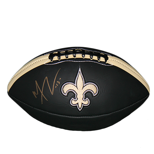 Michael Thomas New Orleans Saints Autographed Full Size Logo Black Football (JSA COA)