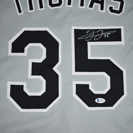 Frank Thomas Signed Chicago Pro-Edition Gray Baseball Jersey (JSA)