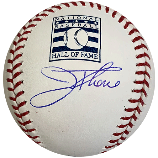 Jim Thome Autographed HALL OF FAME Official Major League Baseball (BECKETT COA)