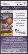 REGGIE JACKSON AUTOGRAPHED HALL OF FAME POSTCARD JSA AUTHENTICATED!