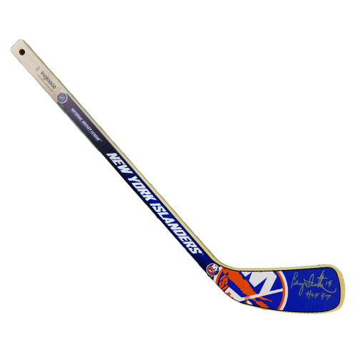 Bryan Trottier Autographed New York Islanders Mini Hockey Stick JSA COA HOF Inscription Included
