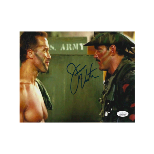 "Jesse ""The Body"" Ventura Autographed 8 x 10 Photo (JSA) W/ Arnold Schwarzenegger"