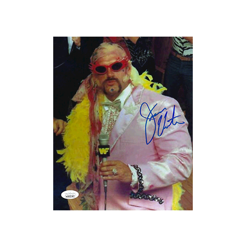 "Jesse ""The Body"" Ventura  Autographed 8 x 10 Photo (JSA COA) WWF Pose MISC"