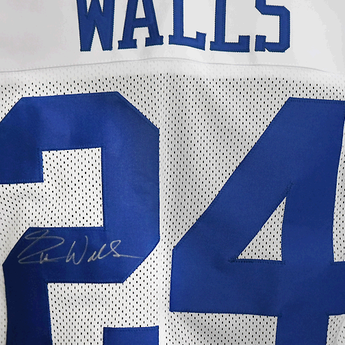 Everson Walls Autographed Pro Style Football Jersey White (JSA)