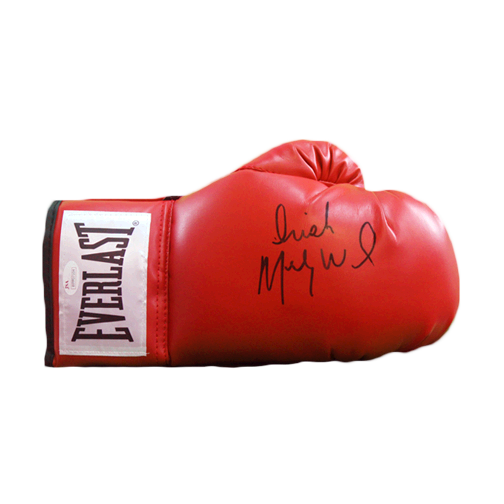 Irish Micky Ward Autographed Red Boxing Glove JSA COA