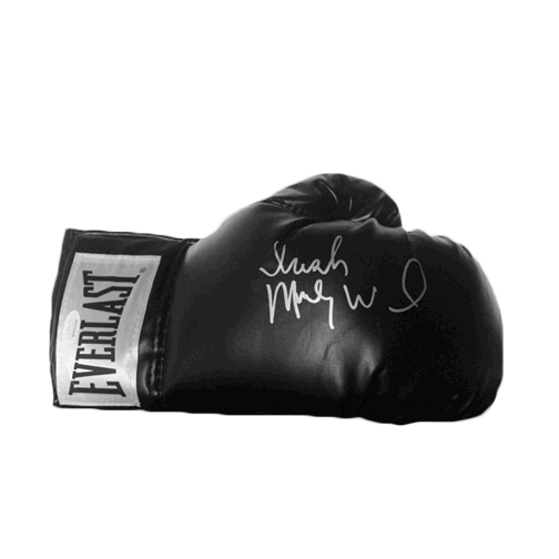 Irish Micky Ward Autographed Black Boxing Glove JSA