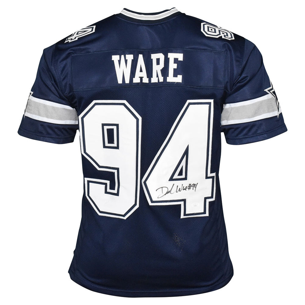 Demarcus Ware Signed Dallas Pro Blue Football Jersey (JSA)
