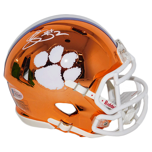 Sammy Watkins Clemson Tigers Autographed Speed Chrome Orange Mini Football Helmet (Beckett)