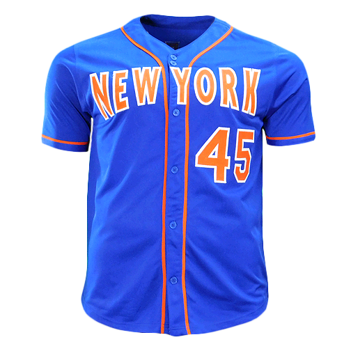 Zach Wheeler Signed New York Blue Baseball Jersey (Beckett)