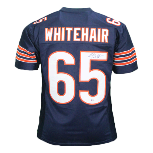 buy popular 4a822 18018 Cody Whitehair Autographed Pro Style Football Jersey Blue (BECKETT COA)