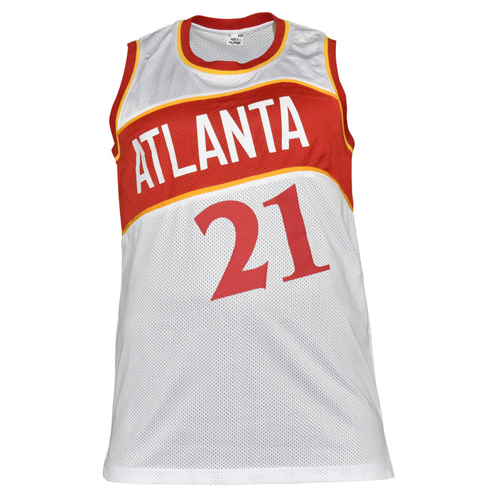 Dominique Wilkins Signed Atlanta Pro White Basketball Jersey (JSA)