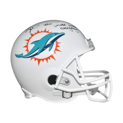 Ricky Williams Signed Miami Dolphins Full-Size Throwback Replica Football Helmet (JSA)