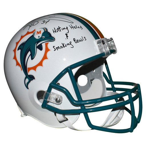 Ricky Williams Signed Hitting Holes N Smoking Bowls Inscription Miami Dolphins Full-Size Replica White Football Helmet (JSA)