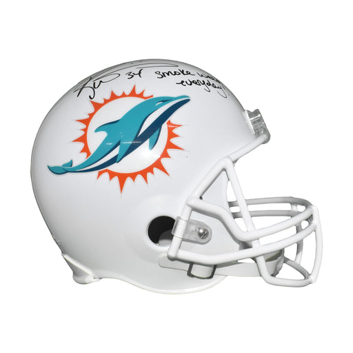 Ricky Williams Signed Miami Dolphins Throwback Full-Size Replica Football Helmet (JSA)