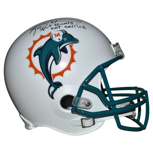 Ricky Williams Signed Split Blunts Not Carries Inscription Miami Dolphins Full-Size Replica White Football Helmet (JSA)