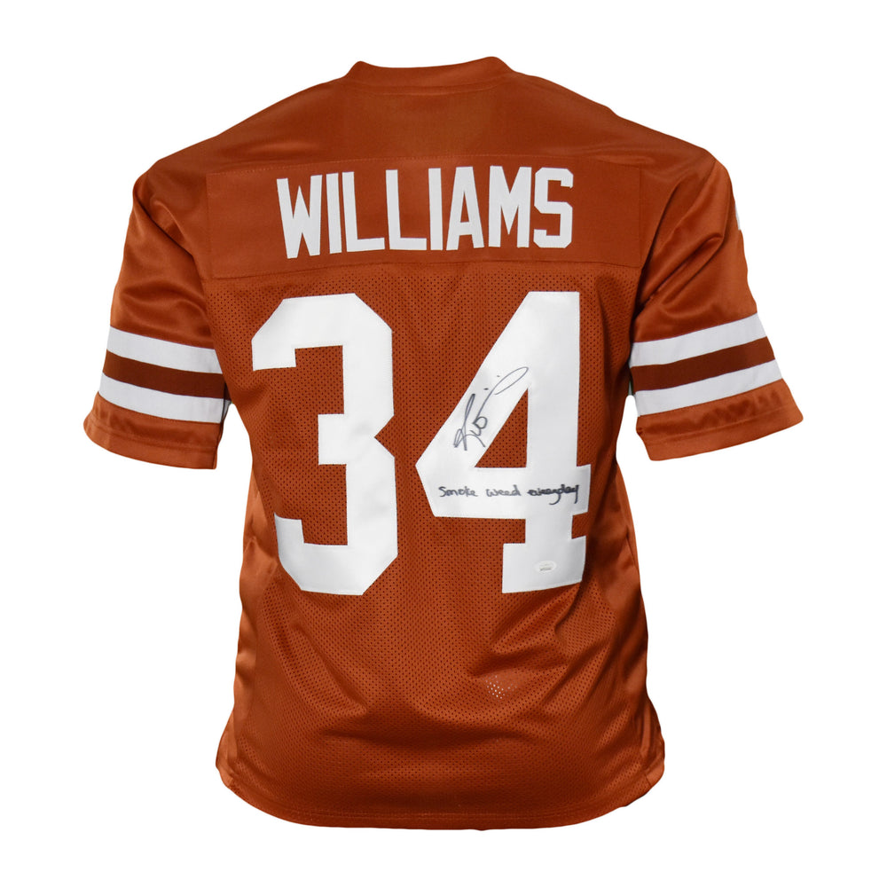 Ricky Williams Signed Smoke Weed Everyday Orange College-Edition Jersey (JSA)