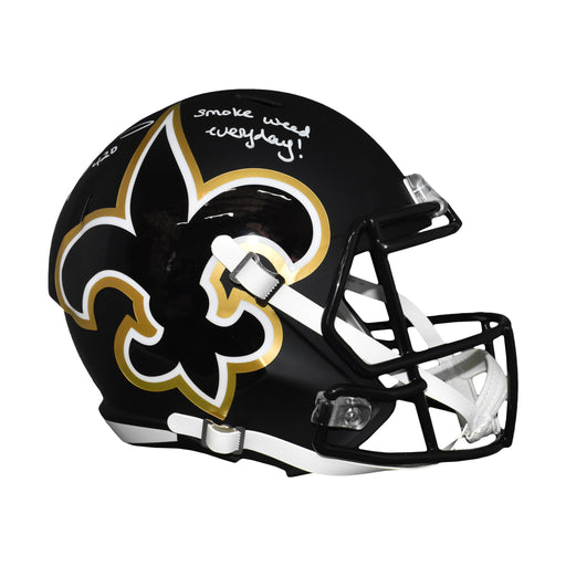 Ricky Williams Signed Full-Size Saints Amp Speed Replica Helmet (JSA)