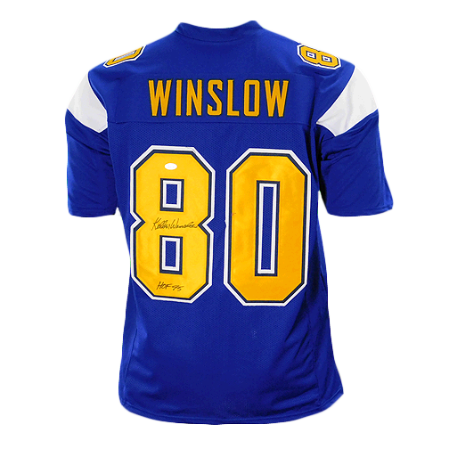 Kellen Winslow Signed HOF '95 Pro Edition Blue Football Jersey (JSA)