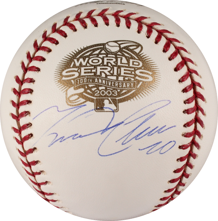 Miguel Cabrera Autographed Rawlings 2003 World Series Official Major League Baseball (JSA)