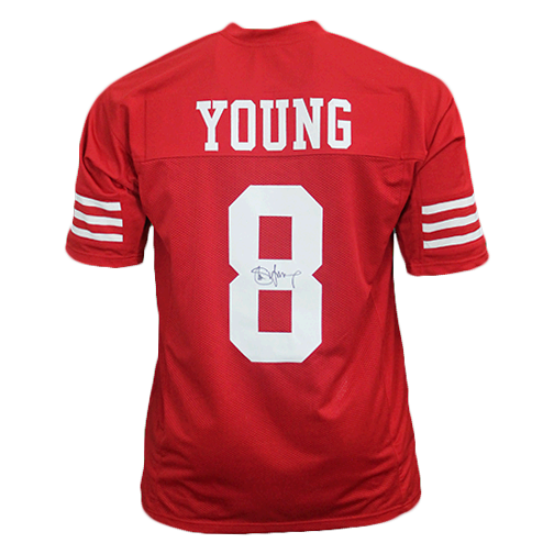 newest 87330 b1559 Steve Young Pro Style Autographed Football Jersey Red (JSA COA)
