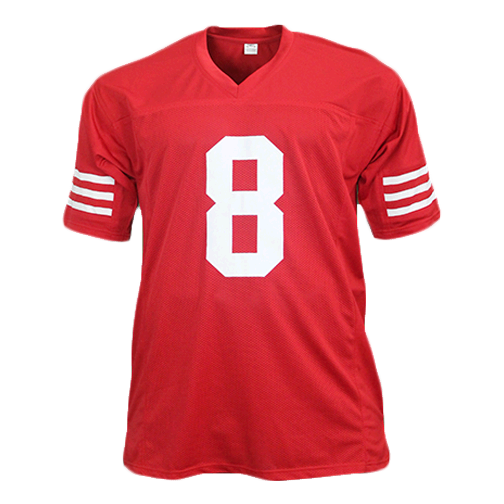 Steve Young Pro Style Autographed Football Jersey Red (JSA)