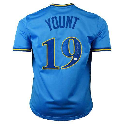 Robin Yount Signed Milwaukee Pro-Edition Blue Baseball Jersey (JSA)