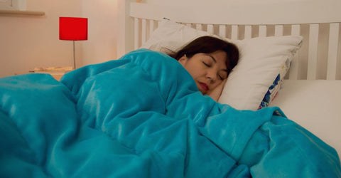 Kocoono Weighted Blanket can be used on top of your duvet.