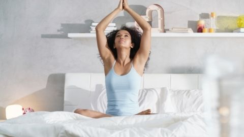 Incorporate a relaxing yoga practice into your nighttime routine for a better sleep