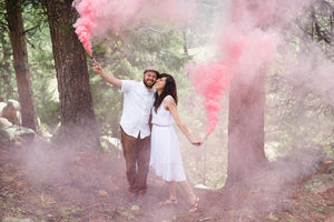 Gender Reveal Package (Smoke Grenade / Confetti Cannon / Labels)