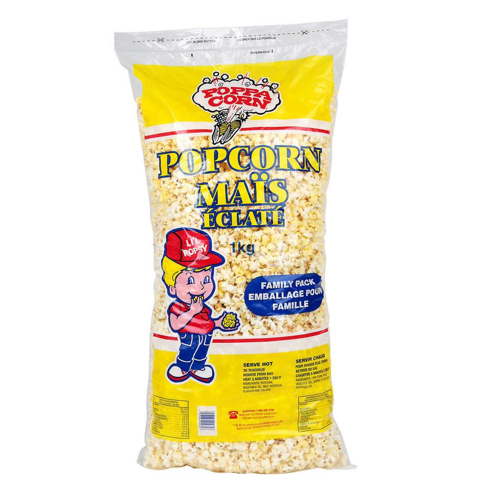 Delicious Freshly Made Butter and Salt Family Pack 1K Bag of Popcorn
