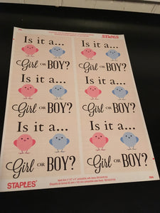 Gender Reveal Sticker - FREE download just click and enjoy