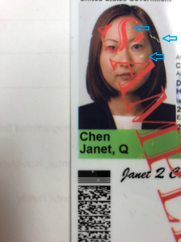 Printer Cleaning Spots on ID Card