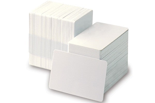 1350-1600 Adhesive-Backed Blank 10 mil Sub Credit Card Size PVC Cards