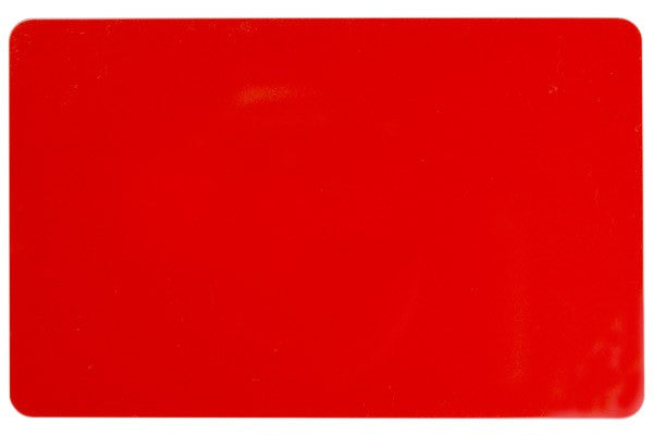 "1350-2060 Red PVC ID Card (CR80/Credit Card Size, 2.13"" x 3.38"")"