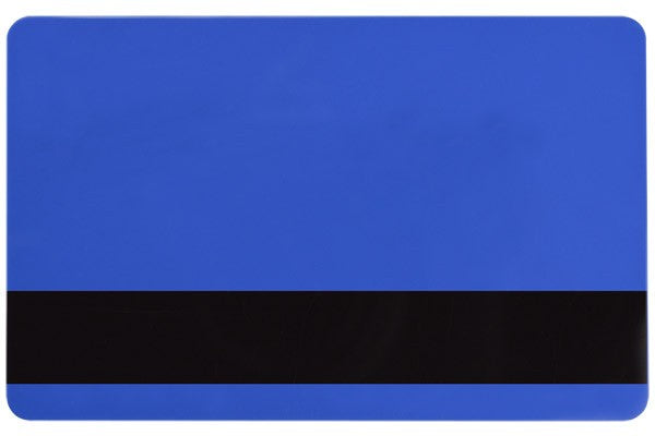 "1350-2066 Blue PVC ID Card with 1/2"" HICO Magnetic Stripe (CR80/Credit Card Size, 2.13"" x 3.38"")"