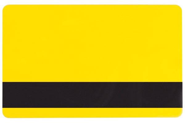 "1350-2076 Yellow PVC ID Card with 1/2"" HICO Magnetic Stripe (CR80/Credit Card Size, 2.13"" x 3.38"")"