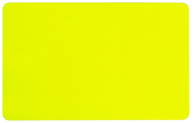 "1350-2090 Yellow PVC ID Card (CR80/Credit Card Size, 2.13"" x 3.38"")"